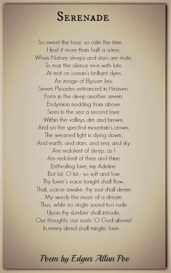 Edgar Allan Poe Poems Classic Famous Poetry
