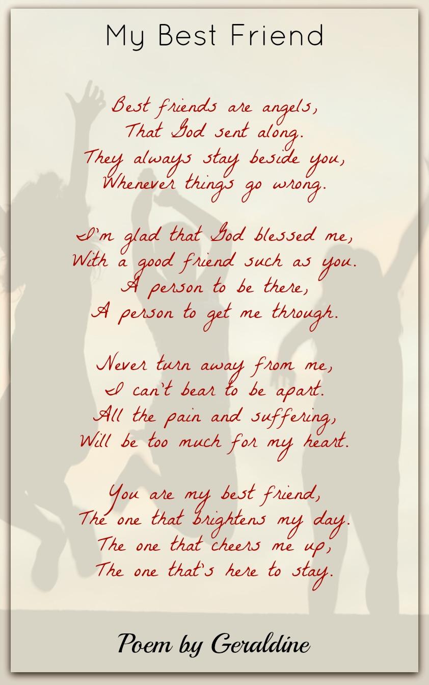 My Best Friend-Geraldine | Friendship Poems