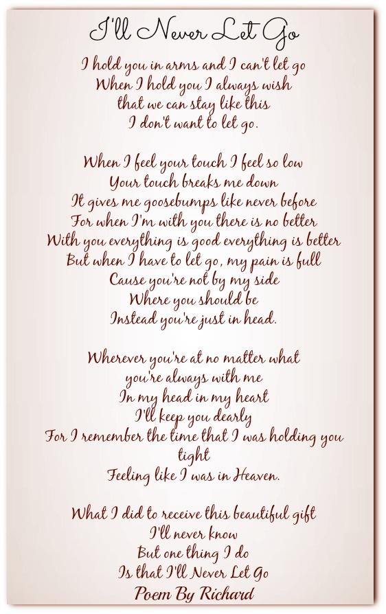 To let go poem