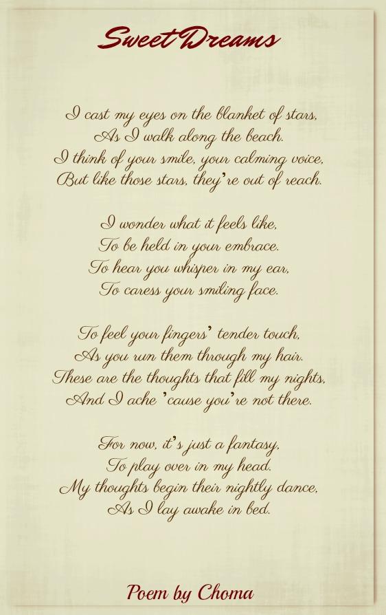 My love poem sweet dreams 100 Best