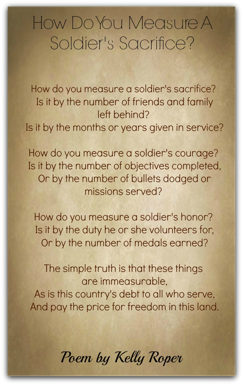 How Do You Measure A Soldier's Sacrifice?-Kelly Roper ...