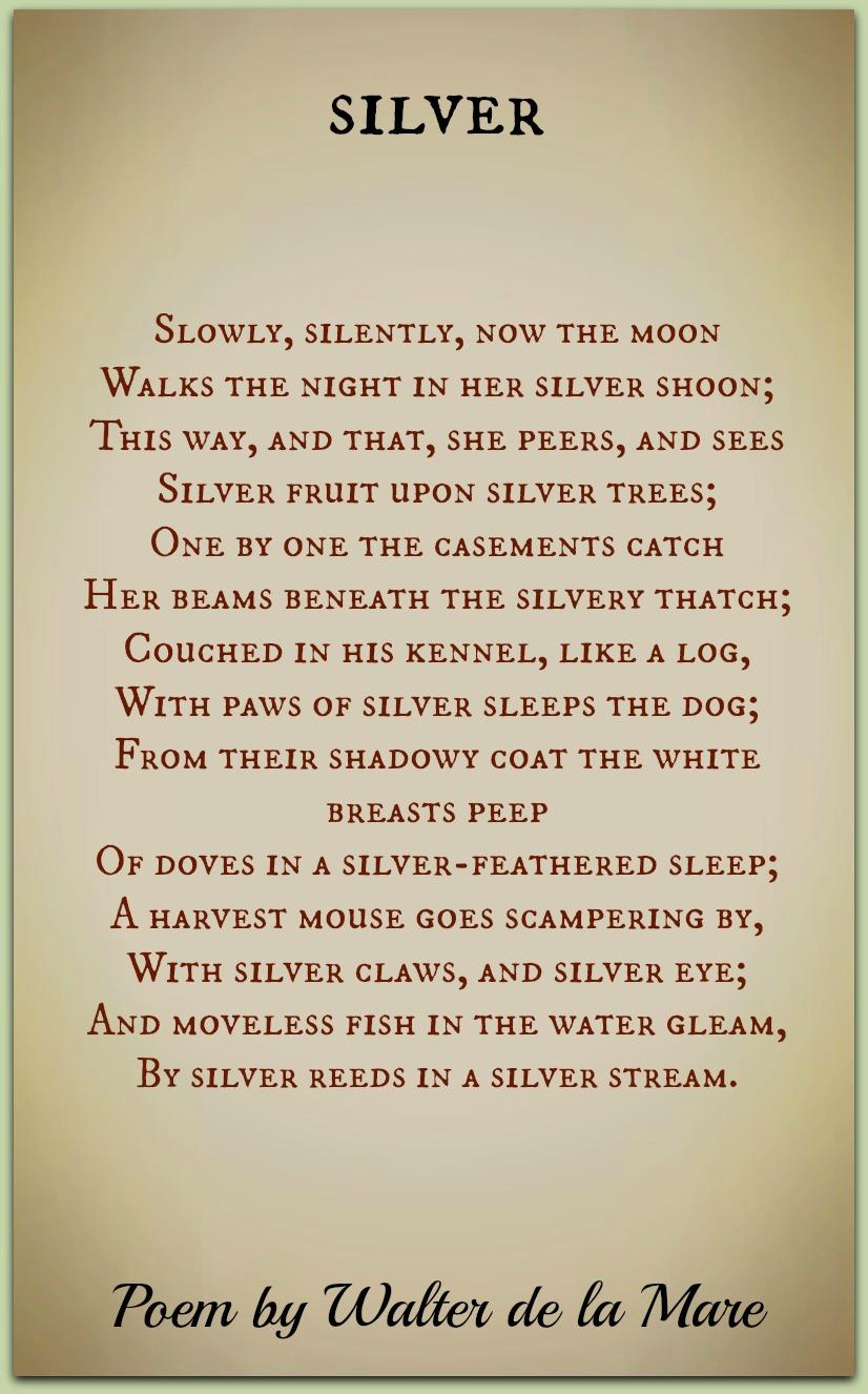 silver moon poem