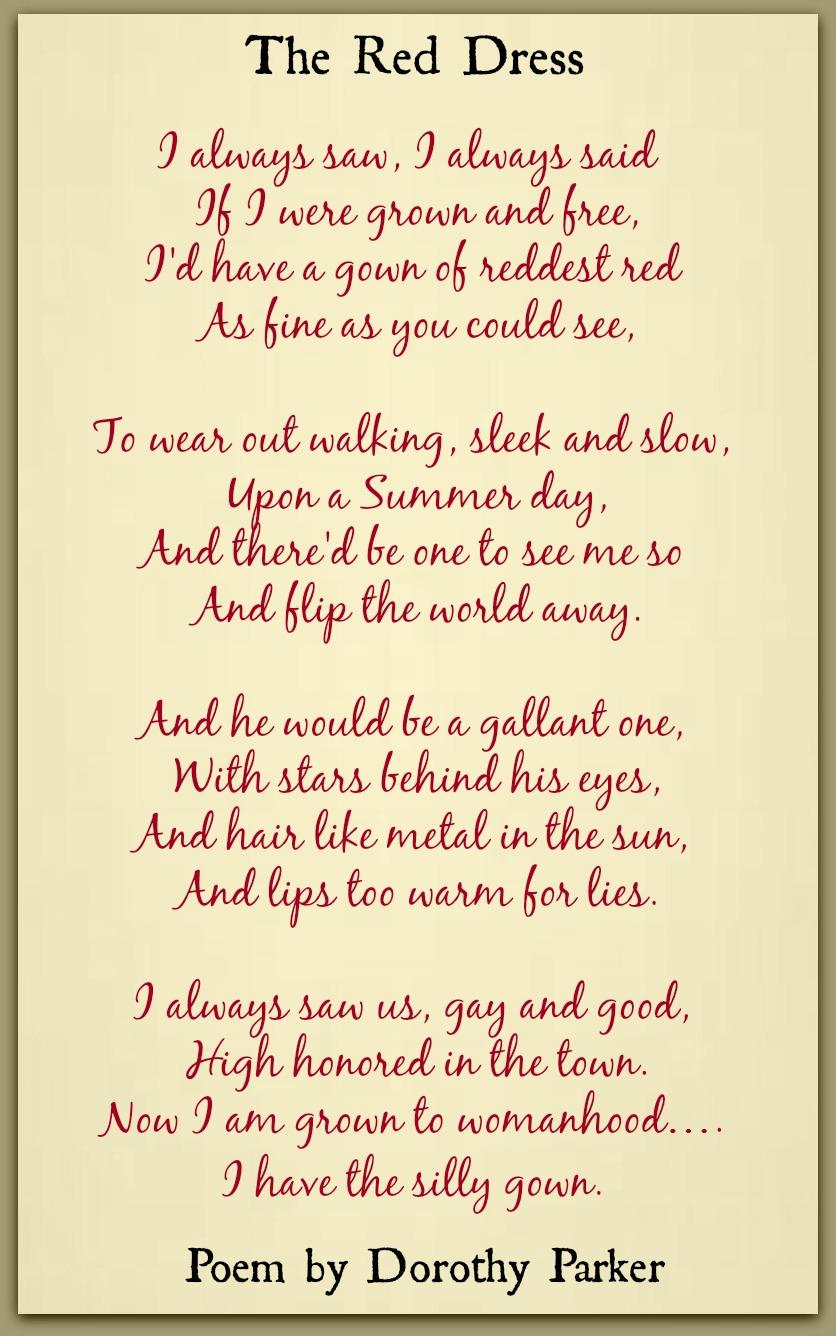 red dress poem